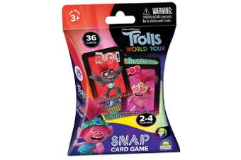 36pc Trolls Snap Playing Deck Card Educational Games/Toys Kids/Children 3y+