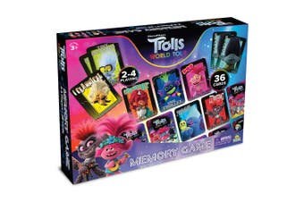 Dreamworks Trolls Memory Kids/Children 3y+ Adult/Family Play Board Game Fun Toys