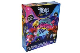 46pc Dreamworks Trolls 91cm World Tour Kids 3y+ Floor Jigsaw Puzzle Educational