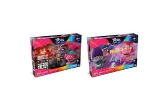 300pc Trolls 45.5 x 60.5cm Jigsaw Puzzle Set Music Is Energy & Music Is Life