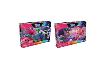 300pc Trolls 45.5 x 60.5cm Jigsaw Puzzle Set Music Is Life & Dance Your Amp Off
