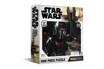 1000pc Star Wars 68.5 x 50.5cm Kids Jigsaw Puzzle Mandalorian with Baby Yoda 8y+
