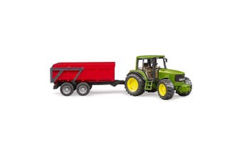 Bruder 1:16 John Deere Farm Tractor w/Tipping Trailer Kids/Children Toy f/ 3yr+