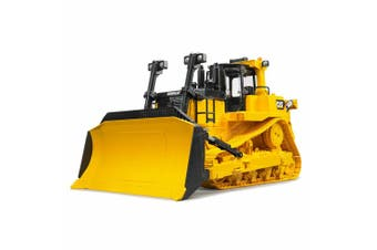 Bruder 1:16 Kids Caterpillar Large Construction Truck Bulldozer w/ Ripper Yellow