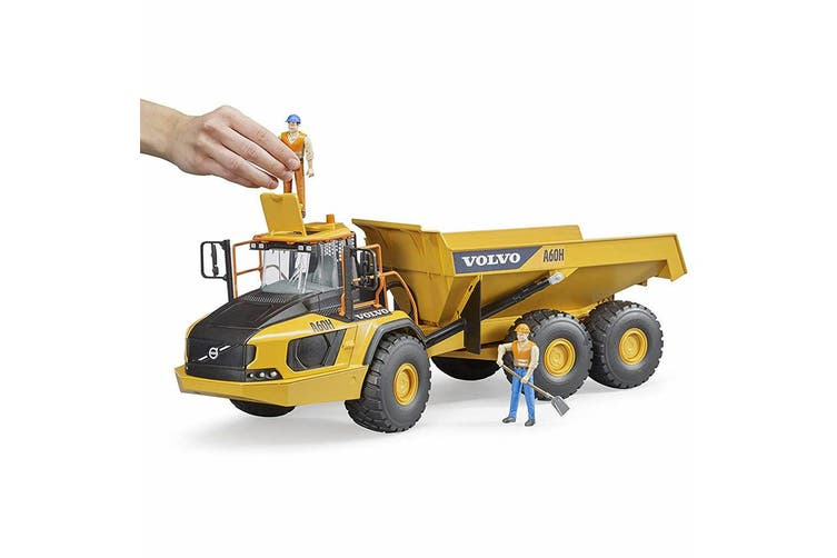 Bruder 1:16 Volvo A60H Construction Hauler Kids/Boys 3y+ Toy Dump Truck Yellow