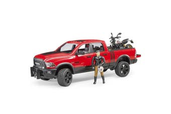 Bruder 1:16 RAM 2500 40cm Power Wagon w/Ducati Desert Sled Toy Vehicle Kids 4y+