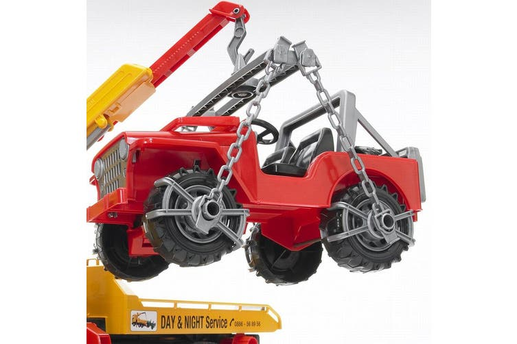Bruder 1:16 Man TGA Breakdown Tow Truck w/ Cross Country Vehicle Kids 4y+ Toys