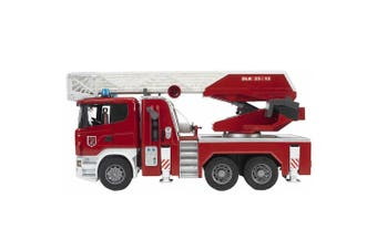 Bruder 1:16 59cm Scania R-Series Fire Engine Truck w/Ladder/Water Pump Kids 4y+