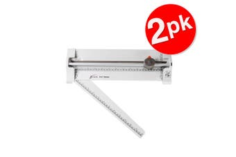 2x Jastek Home/Office A4 Rotary Straight/Perforate/Wave Cut Paper Trimmer Cutter