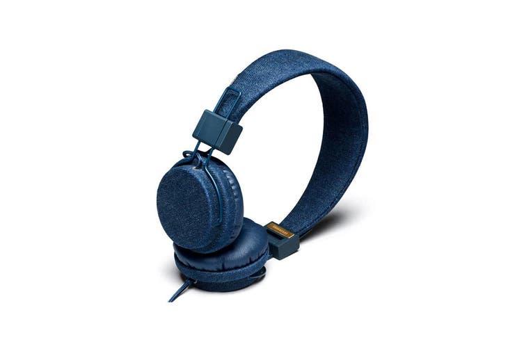 Urbanears Plattan Denim On-ear Headphones/Collapsible w Remote/Mic for MP3/Phone