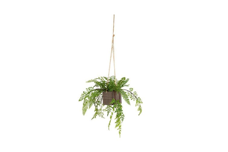 Hanging Potted 44cm Artificial Fern Plastic/Faux Home/Room Garden Decor Plant
