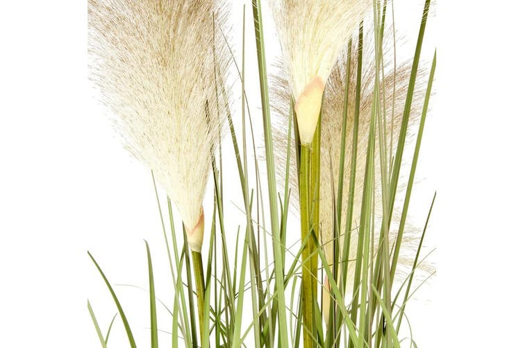 Potted Artificial Faux 91cm Pampas Grass Plastic Plant Home/Room Decor White