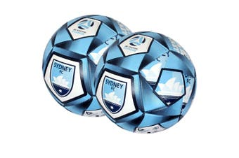 2x Summit Size 5 A-League Sydney Stitched 30 Panel Soccerball Soccer/Football