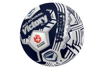 Summit Size 5 A-League Melbourne Victory Stitched PVC 30 Panel Soccerball Soccer