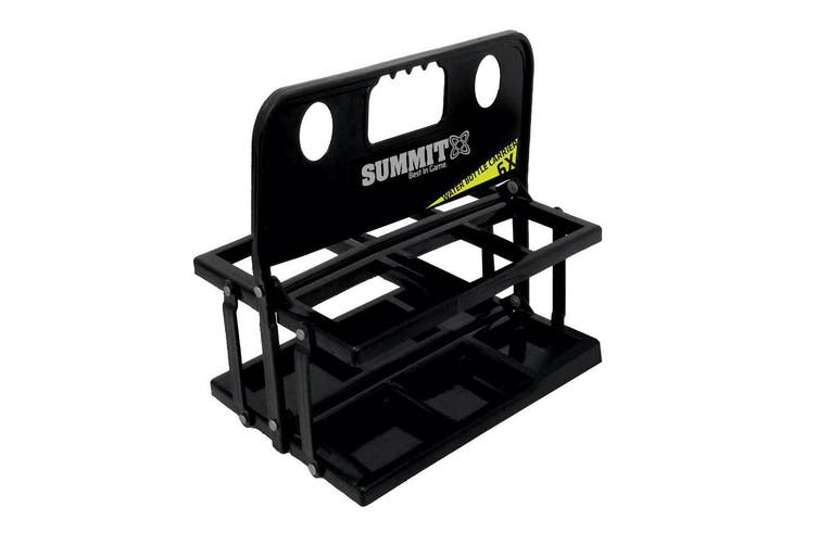 Summit Folding 6 Water Bottle Carrier Rugby/Football/Soccer/Sports/Drink Black