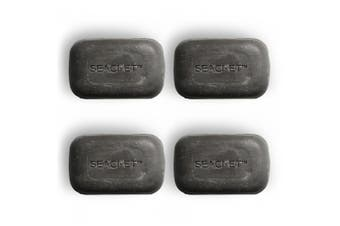 4x Seacret 125g Mineral Rich Dead Sea Mud Face & Body Soap Bar