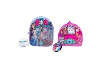 Dreamworks Trolls 2 & Disney Frozen 2 Mini Purse Backpack w/Lipgloss/Nail Polish