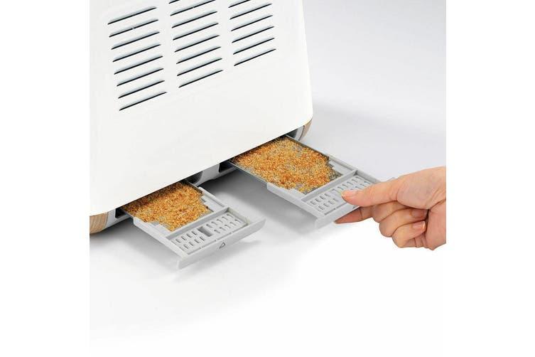 Morphy Richards Scandi White/Wood Trim Base 4 Slice Toaster w/ Cordless Kettle