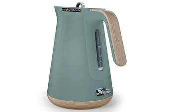 Morphy Richards 100009 Aspect 1.5L Cordless Kettle Scandi Teal/Wood Trims Jug