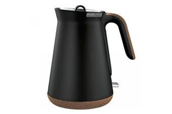 Morphy Richards Aspect 1.5L Cork Base Electric Cordless Kettle/Boiler Black