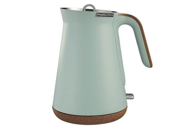 Morphy Richards Aspect 1.5L Cork Base Electric Cordless Kettle/Boiler Mint