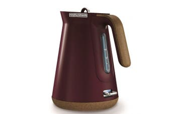Morphy Richards Aspect 1.5L Cork Base Electric Cordless Kettle/Boiler Maroon