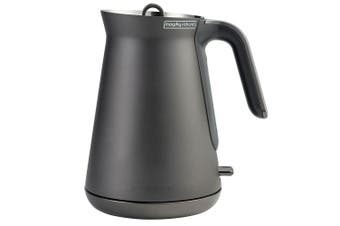 Morphy Richards 1.5L 2.2kW Aspect Cordless Kettle Stainless Steel Titanium Black