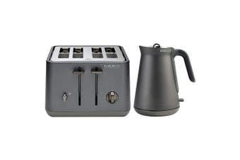 Morphy Richards Aspect Titanium Chrome Base 4 Slice Toaster w/Cordless Kettle
