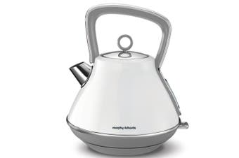Morphy Richards 2200W Evoke 1.5L Pyramid White Stainless Steel Electric Kettle