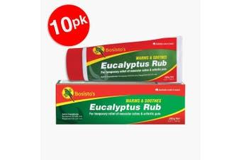 10x Bosisto's 35g Eucalyptus Non Stick/Warm Rub for Arthritic/Muscular Aches