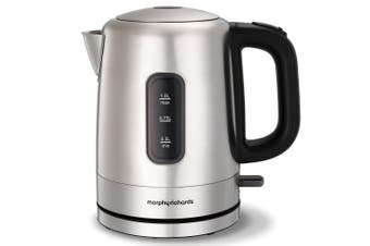 Morphy Richards 2200W Accents 1L Brushed Stainless Steel Electric Kettle 101005