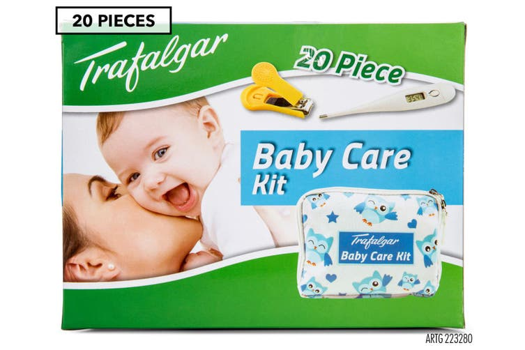 2x 20pc Trafalgar Baby/Children Infant Care Kit Health Thermometer/Grooming Set