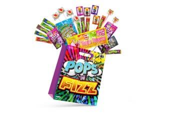 Sherbert Pops & Fizz Kids Showbag w/Ripper Candy/Chew Bar/Lollipop/Straw Lollies