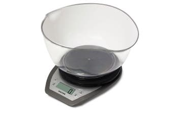 Salter 5kg Digital Kitchen Scale Food/Liquid Electronic Weight w/ 2L Mixing Bowl