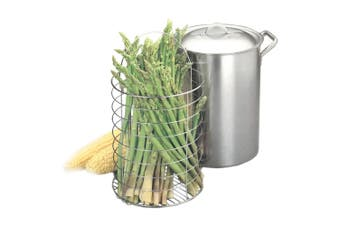 2.85L Stainless Steel Corn Cobs Cooker Pot/Pan/Asparagus Steamer/Steaming Basket
