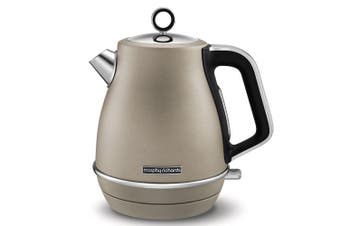 Morphy Richards 2200W Evoke 1.5L Jug Platinum Stainless Steel Electric Kettle
