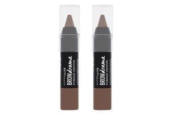 2x Maybelline 1.1g Women Makeup Eye Brow/Eyebrow Drama Pomade Crayon Dark Brown