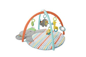 Bright Starts Hug N Cuddle Elephant Baby Activity Gym Play Mat w/Plush/Music/Toy