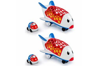 2x Oball Go Grippers Cargo Plane Jet/Airplane Aircraft Aeroplane Toy Car Vehicle
