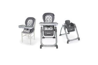 Ingenuity SmartServe Clayton 4-In-1 High Chair/Baby/Toddler Booster Seat Grey