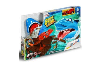 Maisto Fresh Metal Shark Jump Kids Car Track Race Playset w/Die Cast Car 3y+