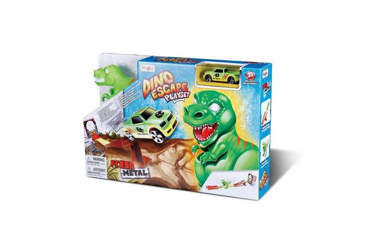 Maisto Fresh Metal Dino Escape Kids Car Track Race Playset w/Die Cast Car 3y+