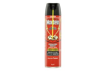 Mortein Kill & Protect 350g Crawling Insect/Cockroach/Spider/Ants Surface Spray