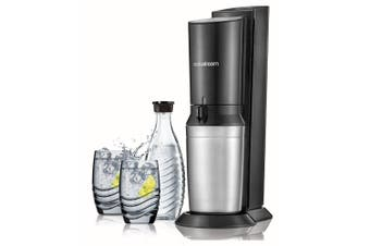 SodaStream Crystal Sparkling Soda Water Drink Maker w/Carafe Bottle/2x Glasses