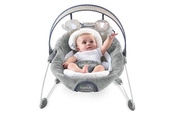 Ingenuity Dream Comfort Baby/Infant Seat Automatic Bouncer/Rocking Chair w Toys