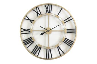 XXL Aura Floating Metal 80cm 12-Hour Wall Clock Hanging Analogue Home Decor Gold