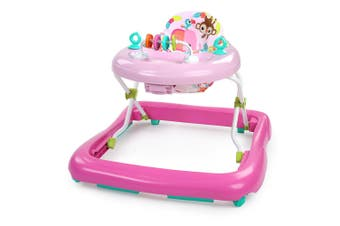 Bright Starts 70cm Pink Floral Friends Walker Play Sound/Light f/ Baby/Toddler