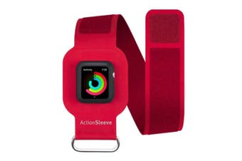Twelve South ActionSleeve Armband Sport Silicone Strap for 38mm Apple Watch Red
