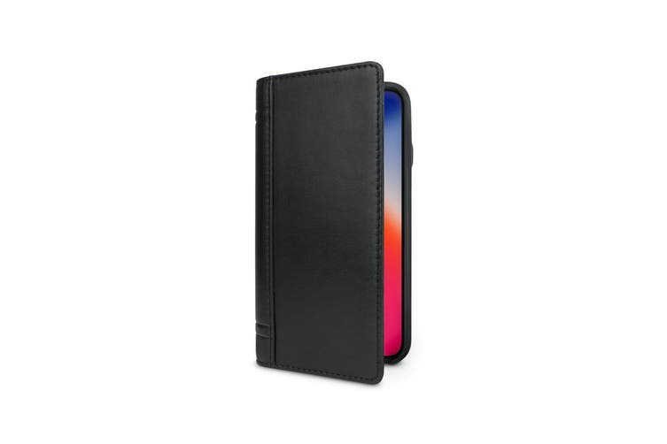 Twelve South Journal Folio/Wallet Case w/Card Pocket For iPhone X/XS Black