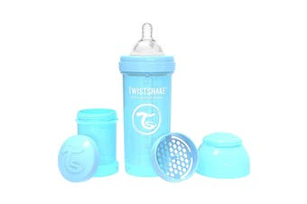Twistshake 260ml Anti-Colic Plastic Feeding Bottle w/ Silicone Teat Baby 0-6m BL